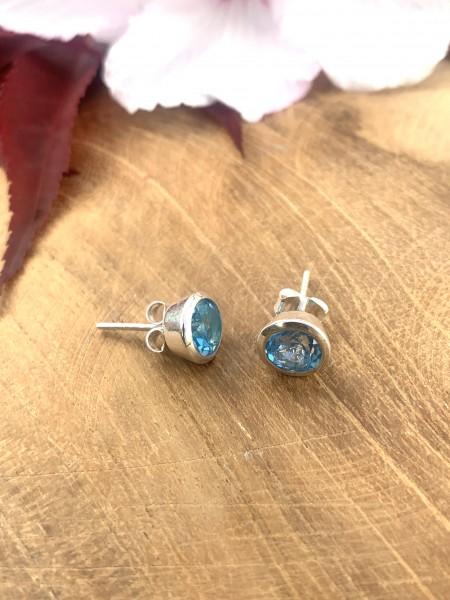 TOP Swiss Blue Topaz Earrings