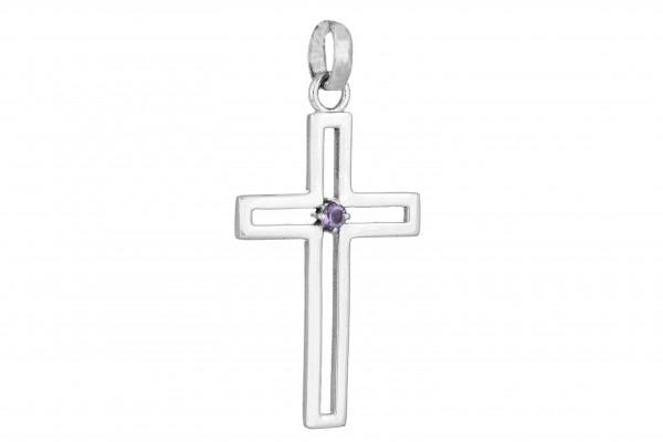 Kreuz Anhänger - Amethyst