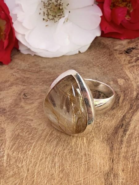 Top Rutilated Quarz Ring - 60,5
