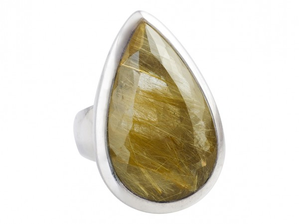 TOP Rutilated Quartz ring