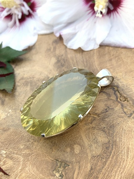 XL Lemon Quartz Pendant