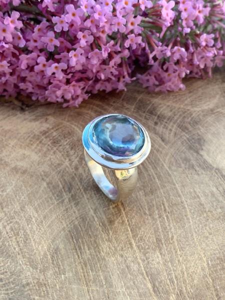 Blue Topaz Ring - 54