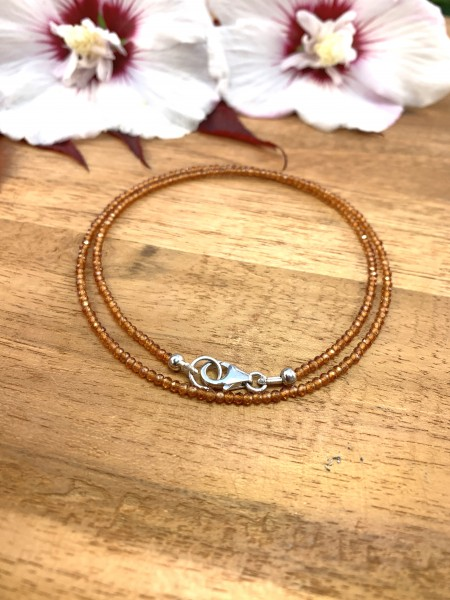 Mandarine Garnet Necklace