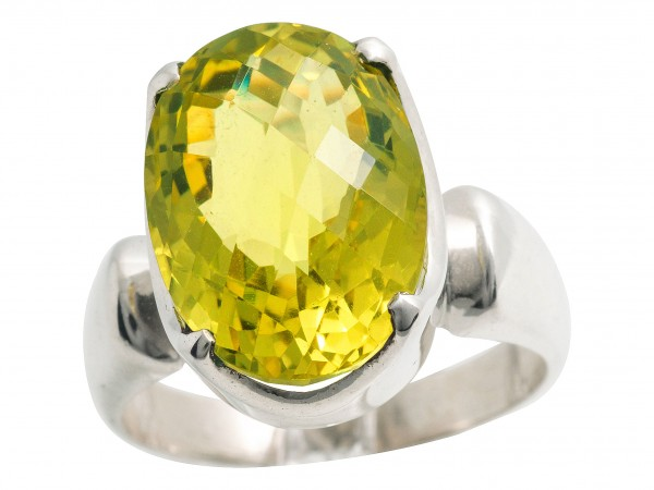 Top Lemon Quartz Ring