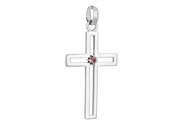 Kreuz Anhänger - Granat