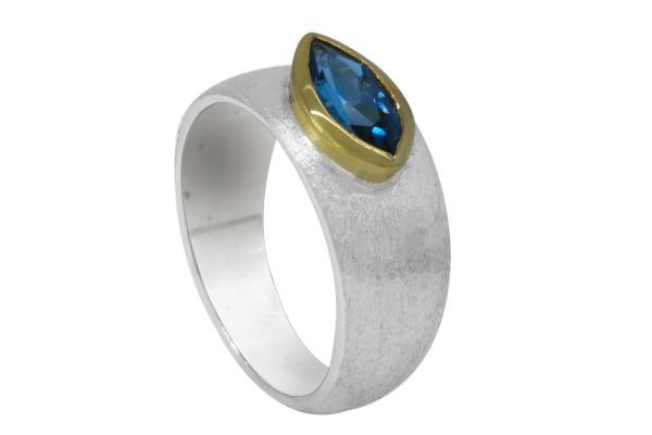 Blue Topaz Ring - 55