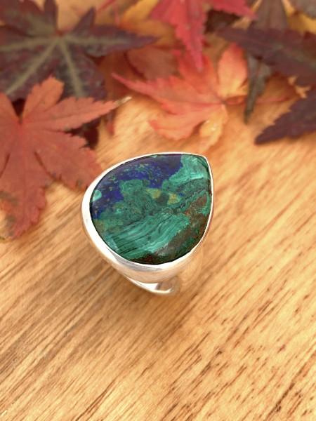 Azurit Malachit Ring - 57