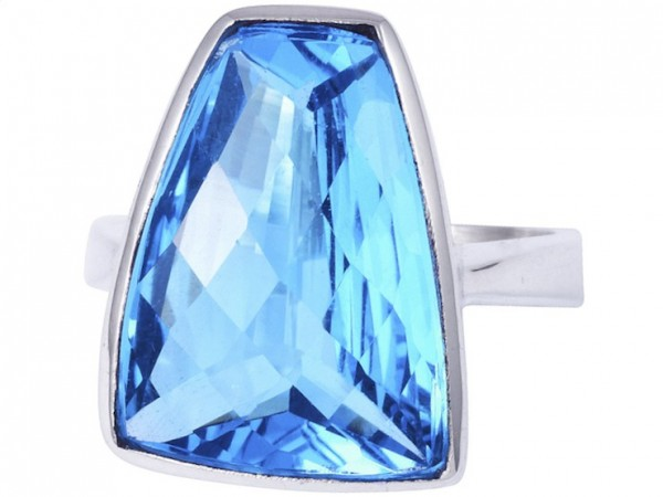 TOP Blue Topaz ring