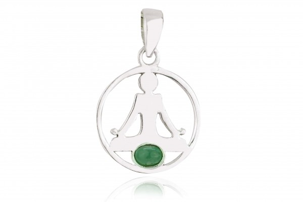 Buddha Anhänger - Smaragd
