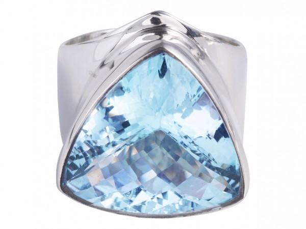 Blau Topas Ring XXL