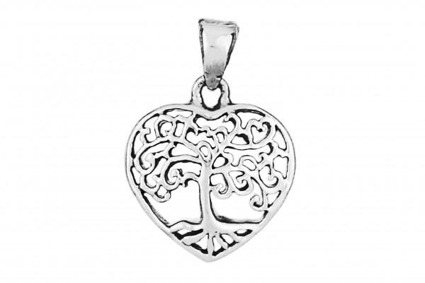 Lebensbaum Herz Anhänger