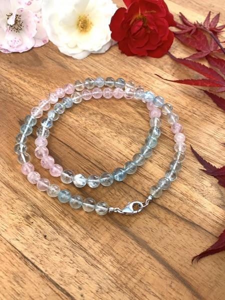 Morganite with Aquamarine Necklace