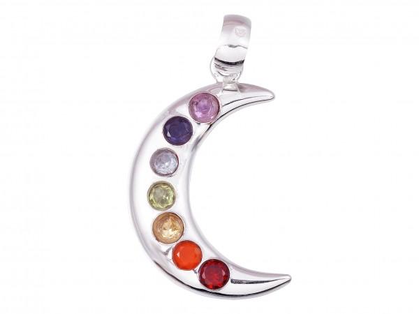 Chakra Moon pendant