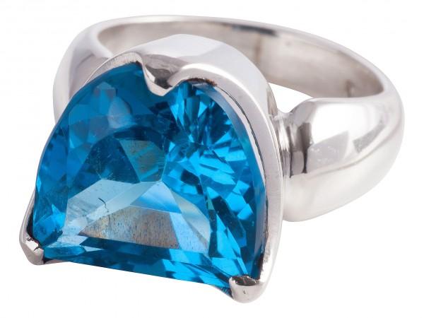 TOP Blau Topas Ring - 52