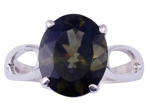 Moldavit Ring