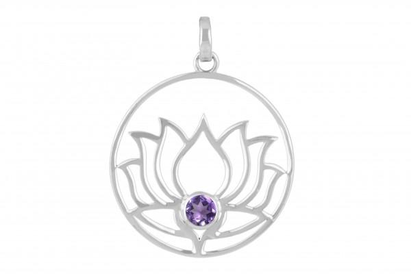 Lotusblume Anhänger - Amethyst