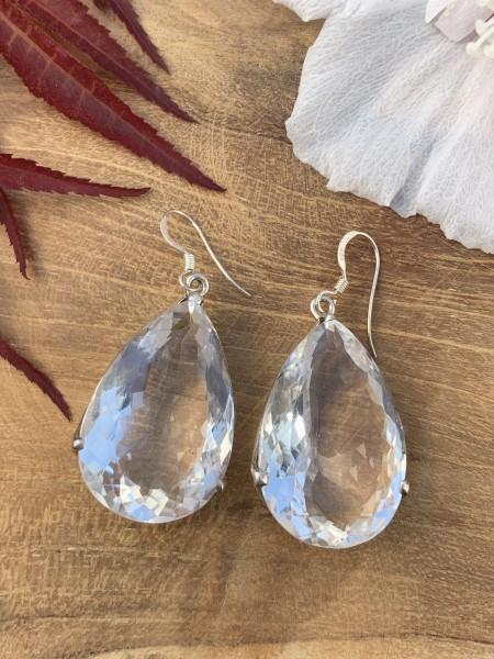 XL Bergkristall Ohrhänger