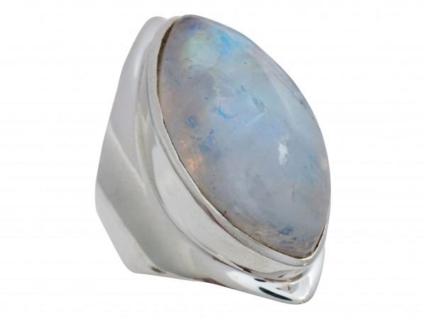 Regenbogen Mondstein Ring