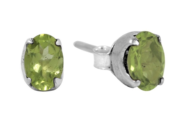 Peridot Earrings Oval