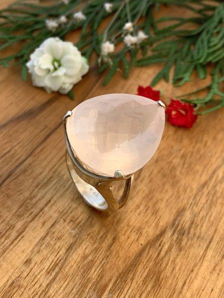 Rosenquarz Ring - 56