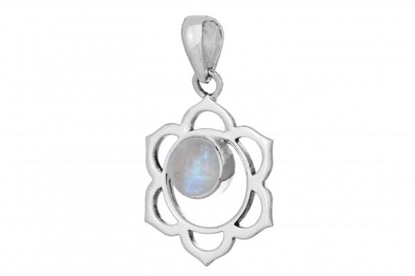 Mandala Anhänger - Mondstein