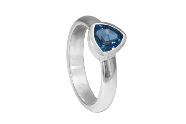 London Blautopas Ring