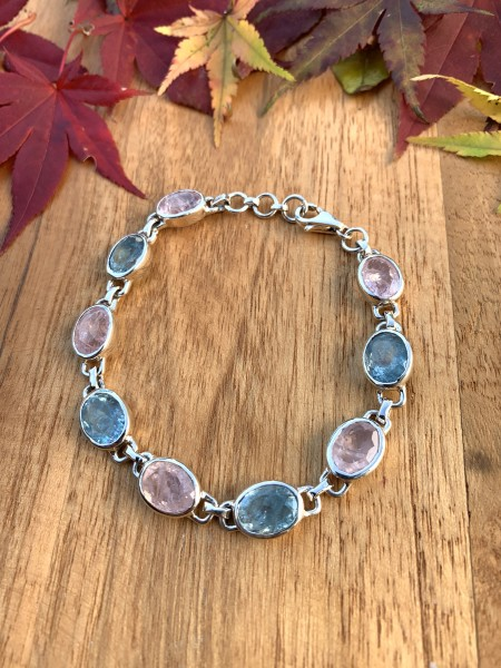 Top Aquamarine with Morganite Bracelet