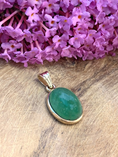 TOP Emerald Pendant 14k Gold