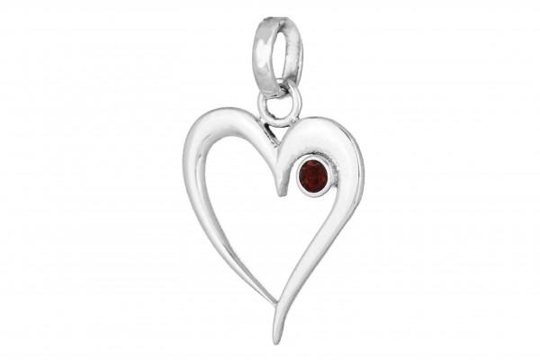 Herz Anhänger - Granat