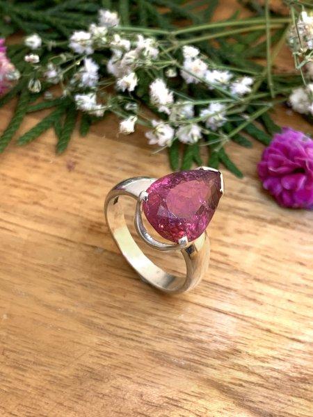 Pinker Turmalin Ring - 54/14
