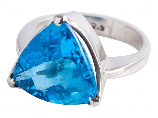 TOP Blau Topas Ring