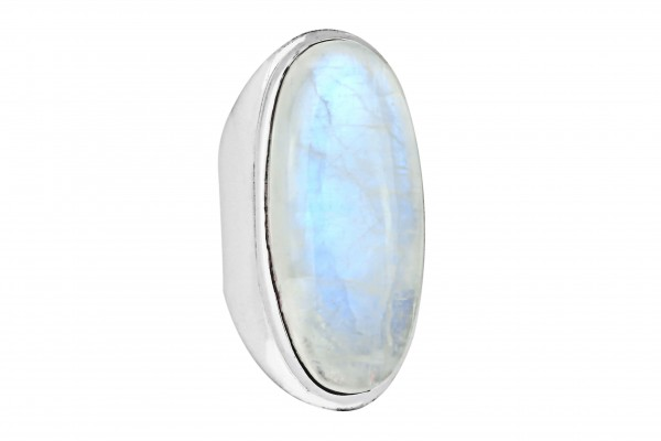Regenbogen-Mondstein Ring