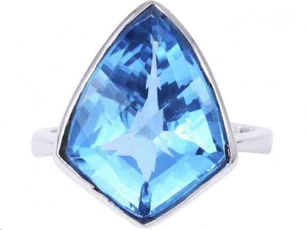 TOP Blue Topaz ring - 61