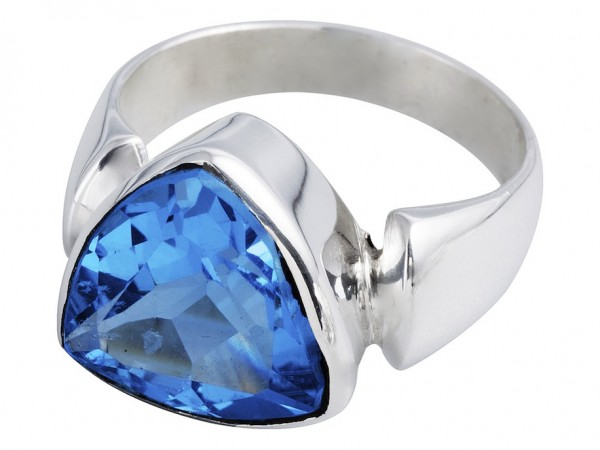 TOP Blue Topaz ring - 56