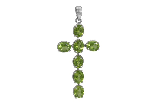 Peridot Cross Pendant