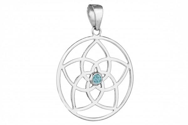 Mandala Anhänger Louts - Blautopas