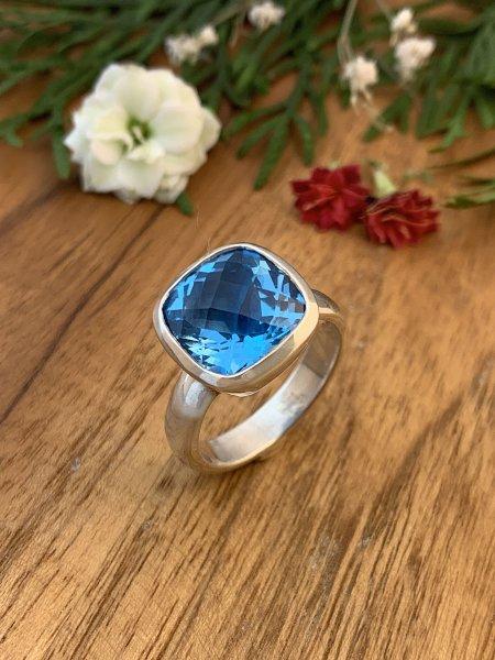 Swiss Blue Topaz Ring - TOP - 61