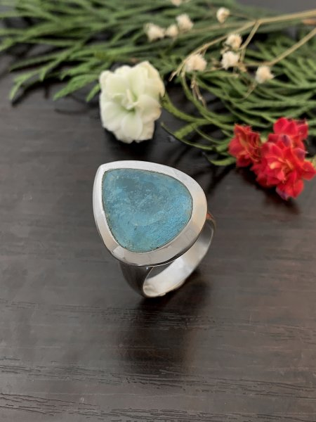 Aquamarine Ring - TOP - 57