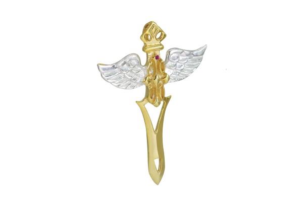 Engel Anhänger mit Rubin