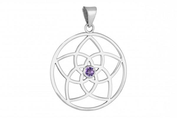 Mandala Anhänger Lotus - Amethyst