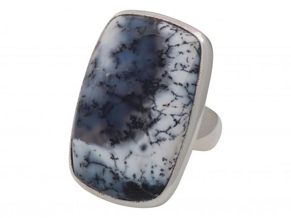 Dendriten-Achat Ring